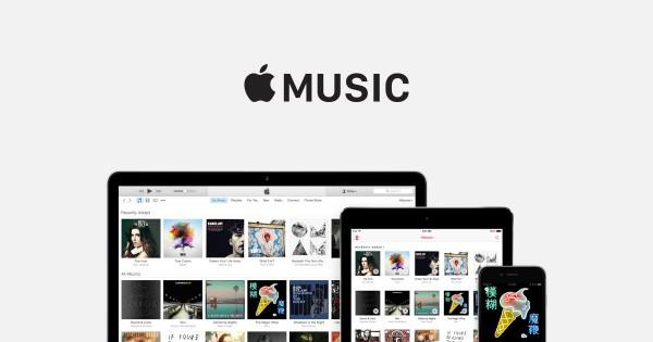 애플의 음악 스트리밍 서비스 애플 뮤직 웹사이트 - 애플 홈페이지 제공
